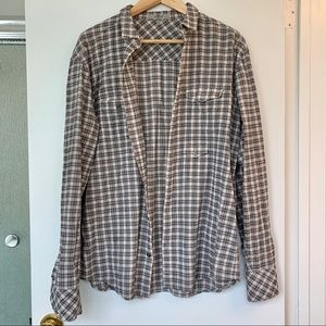 7 for all mankind tan button-down